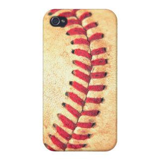 Bola del béisbol del vintage iPhone 4 carcasas