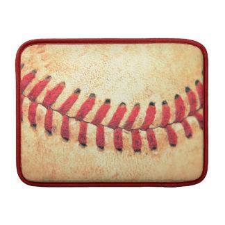 Bola del béisbol del vintage funda  MacBook