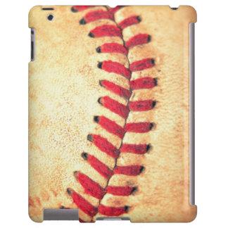 Bola del béisbol del vintage funda para iPad