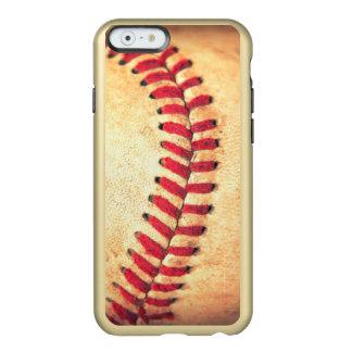 Bola del béisbol del vintage funda para iPhone 6 plus incipio feather shine