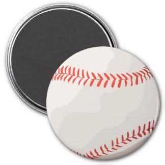 Bola del béisbol del vintage imán redondo 7 cm