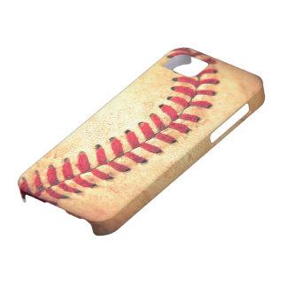 Bola del béisbol del vintage iPhone 5 cárcasas