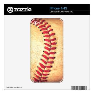 Bola del béisbol del vintage calcomanías para el iPhone 4S
