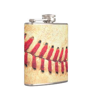 Bola del béisbol del vintage petaca