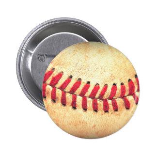 Bola del béisbol del vintage pin redondo de 2 pulgadas