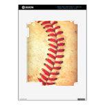 Bola del béisbol del vintage iPad 3 pegatinas skins