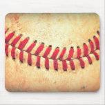 Bola del béisbol del vintage tapetes de raton