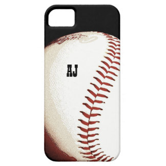 bola del béisbol - estilo del poster - caso del ip iPhone 5 Case-Mate protector