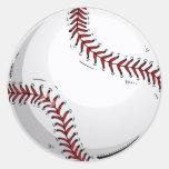Bola del béisbol etiquetas redondas