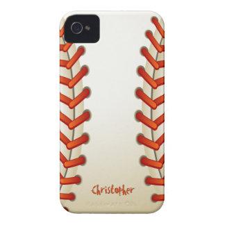 Bola del béisbol iPhone 4 Case-Mate carcasa
