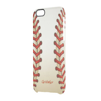 Bola del béisbol funda clearly™ deflector para iPhone 6 de uncommon