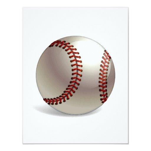 """Bola del béisbol invitación 4.25"""" x 5.5"""""""