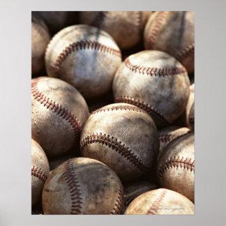 Bola del béisbol poster
