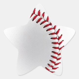 Bola del béisbol pegatina en forma de estrella