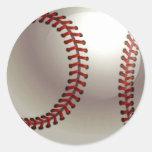 Bola del béisbol pegatinas redondas