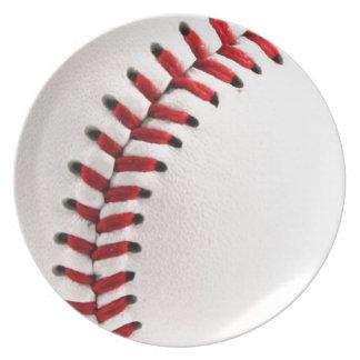 Bola del béisbol platos de comidas