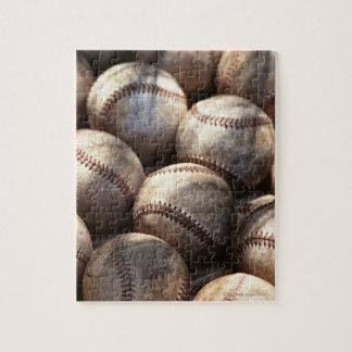 Bola del béisbol rompecabezas con fotos