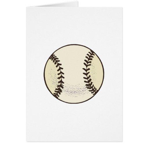 Bola del béisbol tarjeta