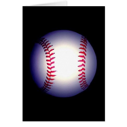 Bola del béisbol tarjeta de felicitación