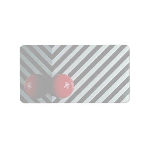 Bola del billar del color rojo etiqueta de dirección