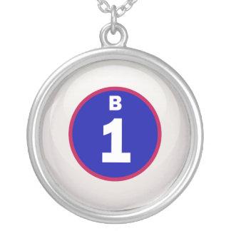 Bola del bingo de B 1 Colgante Redondo