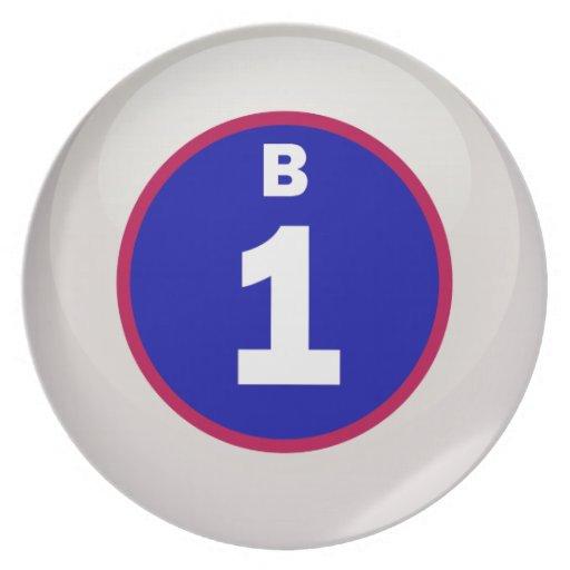 Bola del bingo de B 1 Plato Para Fiesta