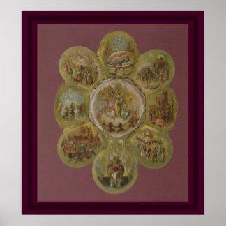 Bola del carnaval del Victorian Impresiones