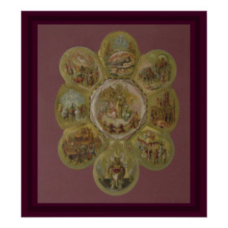 Bola del carnaval del Victorian Póster