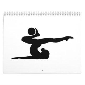 Bola del chica de la gimnasia calendarios de pared