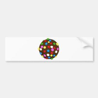 Bola del color del caramelo de chocolate etiqueta de parachoque