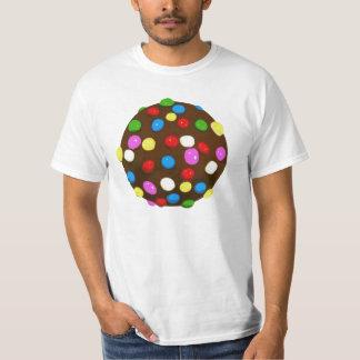 Bola del color del caramelo de chocolate playera