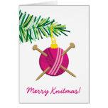 Bola del día de fiesta del navidad de las agujas q felicitación