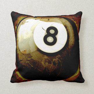Bola del estilo 8 del Grunge Cojín Decorativo