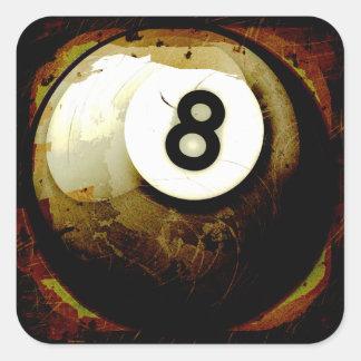 Bola del estilo 8 del Grunge Colcomanias Cuadradas Personalizadas
