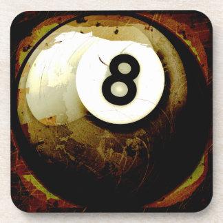 Bola del estilo 8 del Grunge Posavasos