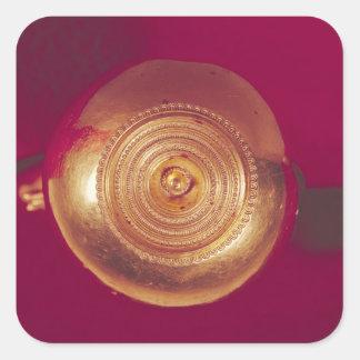 Bola del extremo de una diadema pegatina cuadrada