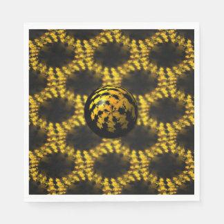bola del fractal 3d servilleta de papel