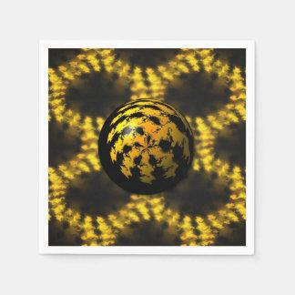 bola del fractal 3d servilletas de papel