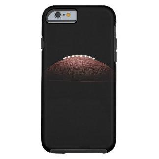Bola del fútbol americano en fondo negro funda para iPhone 6 tough