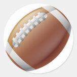 Bola del fútbol americano pegatinas redondas