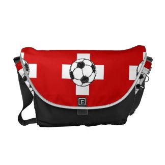 Bola del fútbol de la bandera el | de Suiza Bolsas Messenger
