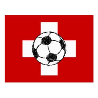 Bola del fútbol de la bandera el   de Suiza Postales