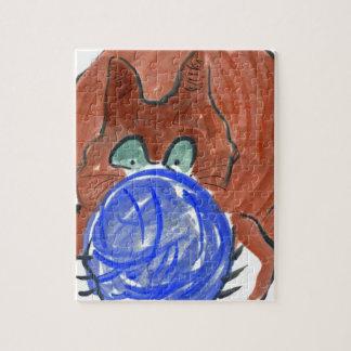 Bola del hilado de Humogus y gatito del tigre Rompecabezas Con Fotos
