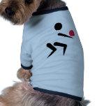 Bola del icono del voleibol camisetas mascota