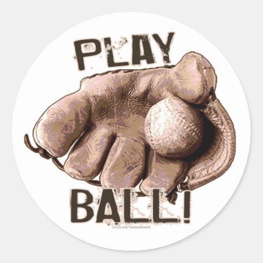 ¡Bola del juego! Pegatina del guante