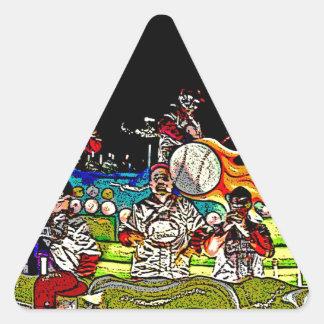 Bola del juego pegatina triangular