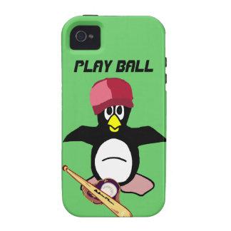 Bola del juego un diseño divertido del béisbol del Case-Mate iPhone 4 funda