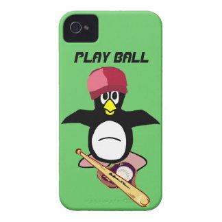 Bola del juego un diseño divertido del béisbol del iPhone 4 carcasa