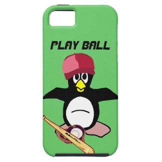 Bola del juego un diseño divertido del béisbol del iPhone 5 Case-Mate cárcasa
