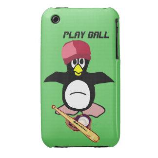 Bola del juego un diseño divertido del béisbol del iPhone 3 cobreturas